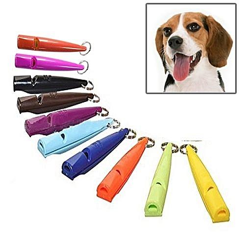10 Pcs Dog Horse Whistle Stop Barking Silent Pet Training Whistle With Key  Chain, Random