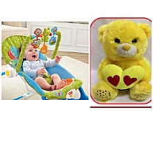 Fisher Price Infant to Toddler Rocker/Bouncers with vibrations ( 0+ months) & A FREE EMOJI TEDDY BEAR