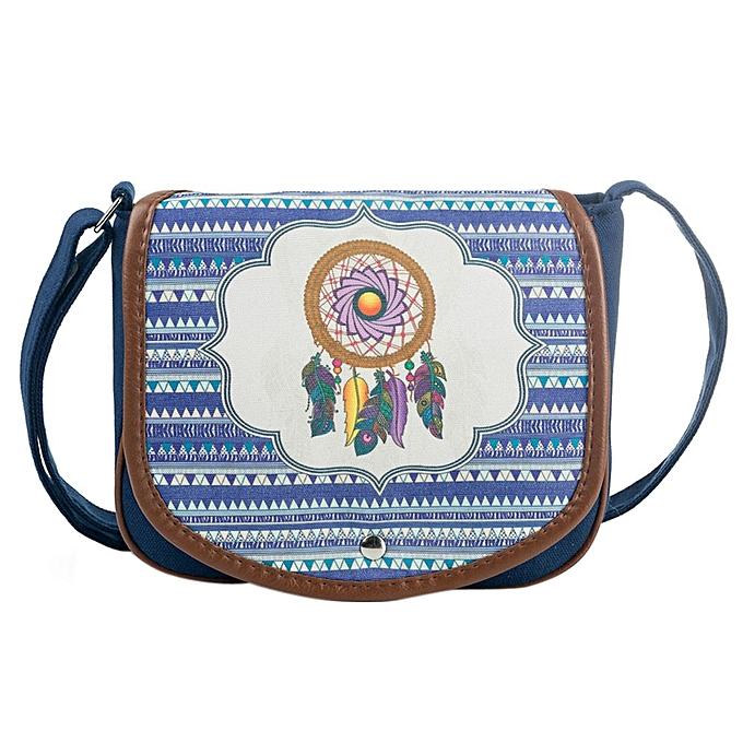 huskspo National Wind Canvas Postman Package Women Shoulder Bag Messenger  Bag Handbag