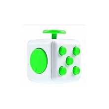 Reduce Pressure Fidget Cube Stress Relief Magic Cube 6-side Dice For Family Adults Kids - White & Green