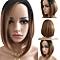 Women Fashion Short Gradient Color Full Wig Bob Hairpiece