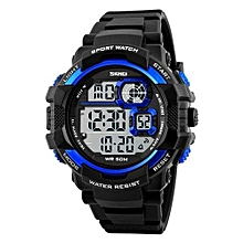 1118 Sports Brand Digital Men Watches Waterproof Fashion Casual Outdoor LED Watch - Blue