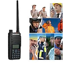 1PCS BAOFENG Dual Band VHF/UHF DM-1801 Portable Radio 5W Broadband Walkie Talkie Support Alarm Digital Signaling SMS Function,Black