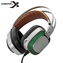 XIBERIA K10 Gaming Headphones stereo Earphone USB 7.1 Surround Sound Game Headset with Microphone LED Light for Computer PC Gamer