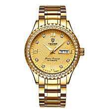 T807B Wrist Watch Men Brand Watch Semi-automatic Mechanical Fashion Luxury Waterproof Watch Luminous Business Casual Watch