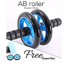 Abs Roller Workout  Arm And Waist Fitness Exerciser Wheel  (Free Knee Mat)  Available in Black,blue,green or yellow