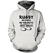 Light Grey Rugby Hoodie