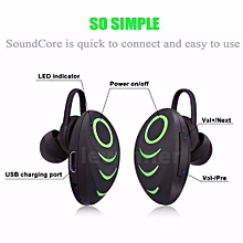 Bluetooth Earphone Mini Wireless Bluetooth In-ear Single-sided Earphone Hands Free Headset(Black+Green)