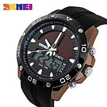 Suitable Brand Solar Energy Men's Quartz Watch Men Sports Watches Relogio Masculino Digital Multifunctional Outdoor Wristwatches SKMEI-coffee Gold