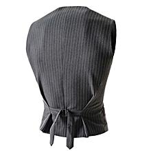 Men's Casual Stripe Vest - Gray