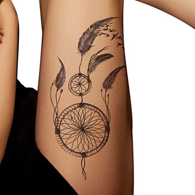 DUOYA bluerdream-Temporary Tattoos Body Art Fake Dreamcatcher Tattoo ...