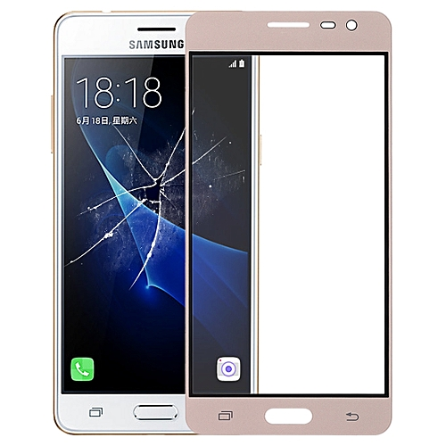 Front Screen Outer Glass Lens for Galaxy J3 Pro / J3110(Gold)