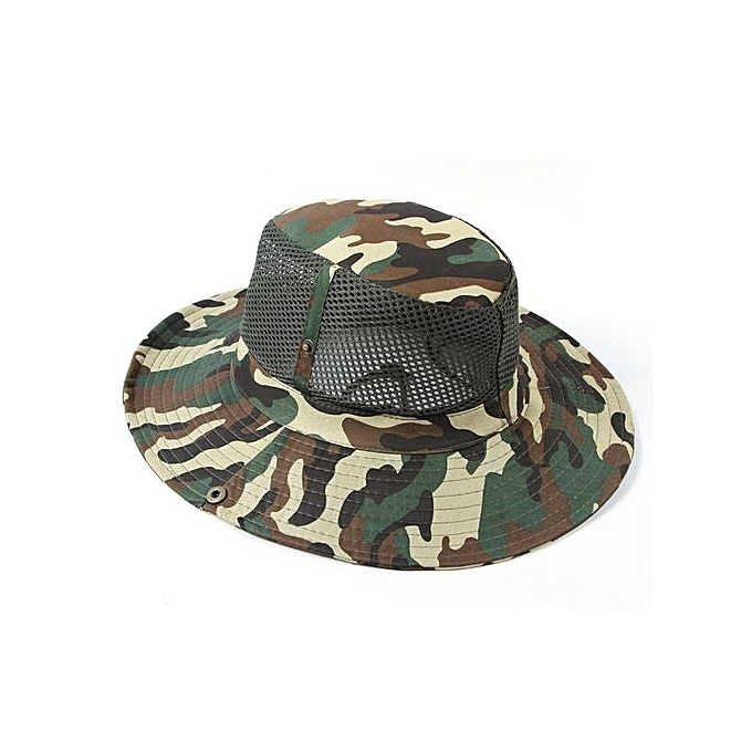 1e2c3f4571e Eissely Unisex Bucket Hat Hunting Fishing Outdoor Cap Brim Military ...