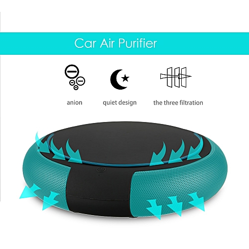 Car Air Purifier with Filter Portable Travel USB Cleaner Formaldehyde  Cigarette Smoke Odor Bacteria Purifying Pm2 5 Eliminator QCJNG
