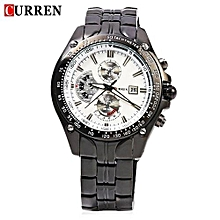 Watches, 8083 Luxury Brand Military Men Watch Full Steel Wristwatches Fashion Waterproof - Black
