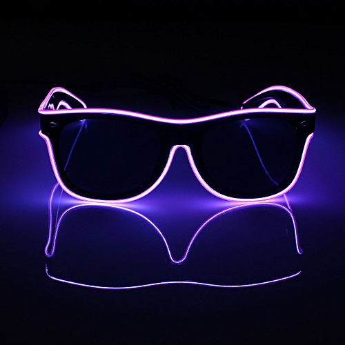 Generic The Best Price Neon El Wire LED Sound Control Light Up Shutter  Shaped Glasses Eyewear Costume Novelty Lighting   Best Price  10e6ddff2