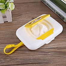 Baby Infant Outdoor Travel Stroller Wet Wipes Box Tissue Case Dispenser White&Yellow