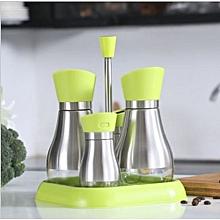 5 Pcs Set Glass Jar Glass Oil And Vinegar Bottle Spice Jar Storage Jar Cruet
