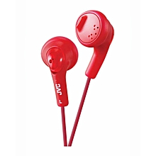 HA-F160 - Gumy Ear Bud Headphones - Red