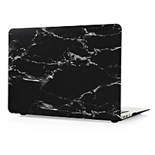 "11"" Air Case, Marble Hard Rubberized Cover For Macbook 11.6 Inch, Black/White"