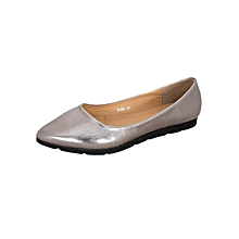 Grey Women's Pointed Flats