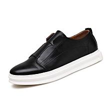 Fashion Men Sneakers Korean Casual Skate Shoes (Black)