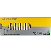 Battery Alkaline AA - 10 Pack