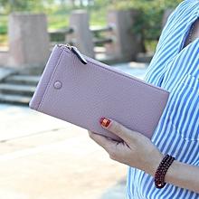 5.5 Inch Women's Vintage Litchi Stria PU Long Wallet Phone Bag Handbag For iPhone 7/7 Plus Samsung