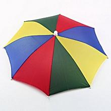New Multicolor Portable Umbrella Hat Cap Sun Rain Fishing Camping