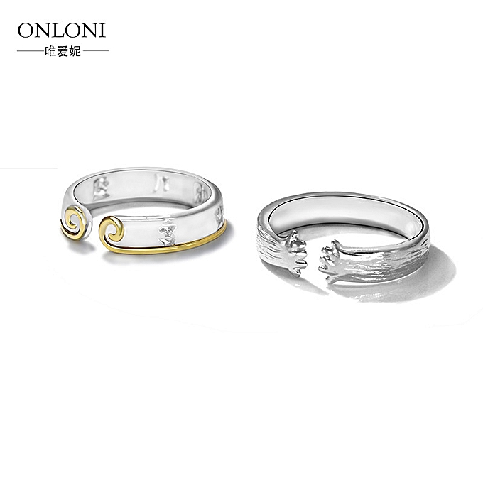 925 lovers ring pure silver a rightness of tight hoops to Sun Wukong curse  the lovers couples rings openings ring ring