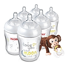 Natural Touch Bottles with Snoozies and Soother (270 ml, Pack of 6)