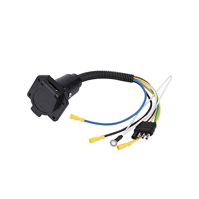 Sensational Universal 6 24V 4 To 7 Way Trailer Flat Adapter Socket Plug Wiring Digital Resources Honesemecshebarightsorg