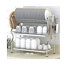 3Tier Stainless Steel Dish Drainer Drying Rack