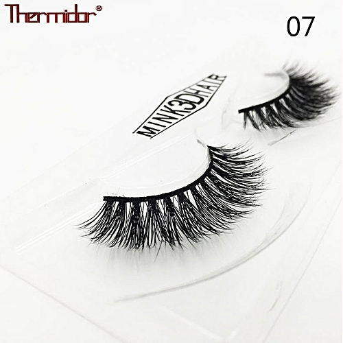 866cdf9ad43 Generic 3D Mink Eyelashes Thick Real Mink Messy Professional Make up Korean  Natural False Lashes Reusable Extention(7)