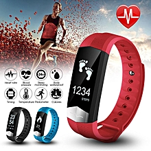 Bluetooth Smart Watch Heart Rate Monitor For Android IOS iPhone Samsung Phone Blue