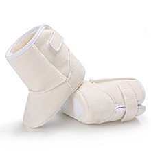 bluerdream-Baby Girl Boys Soft Sole Booties Snow Boots Infant Toddler Newborn Warming Shoes-White
