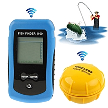 Rf Wireless Fish Finder Color Lcd Screen Display With Sonar Sensor, Wireless Operating Range: 40m (1100)(blue)