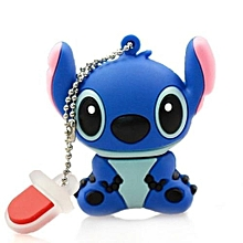 Cartoon Stitch Flash Drives 64 GB USB 2.0 shape - Blue
