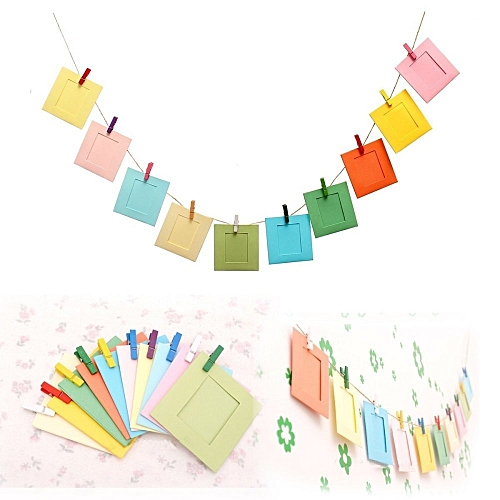Buy UNIVERSAL 10Pcs DIY Paper Photo Picture Frames Clips Hanging ...