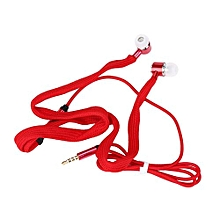 GuoaivoUniversal 3.5mm Shoelace Stereo Handfree Headphone Earphone Headset With Mic RD - Red