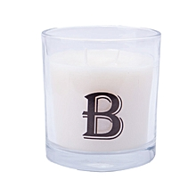 """Letter """"B"""" Alphabet Scented candle - White"""