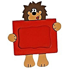 Animal Picture Frame - Lion - Red & Brown
