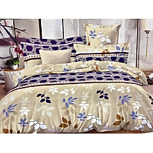 4PC Duvet Set - 6x6 - Beige with Flower Print