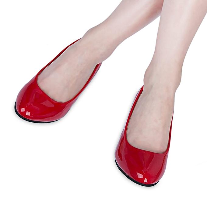 9dbc7a400b8 Fashion Elegant Ladies Shallow Mouth Low Heel Sandals Shoes - RED ...