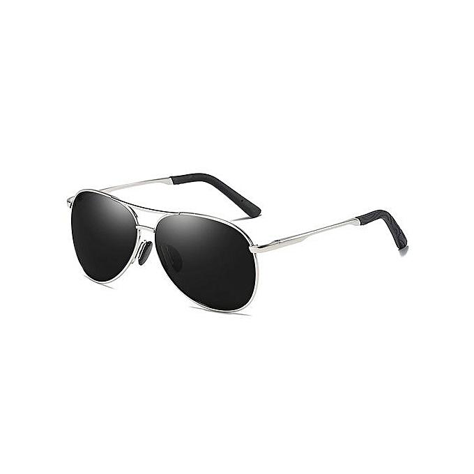 a64c9e8a38 Men s new polarized sunglasses driving mirror fishing sunglasses-Silver