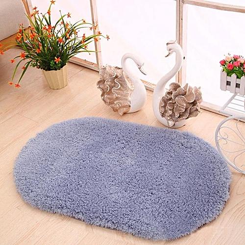 Soft Oval Memory Foam Bath Bathroom Bedroom Floor Shower Mat Rug Gy