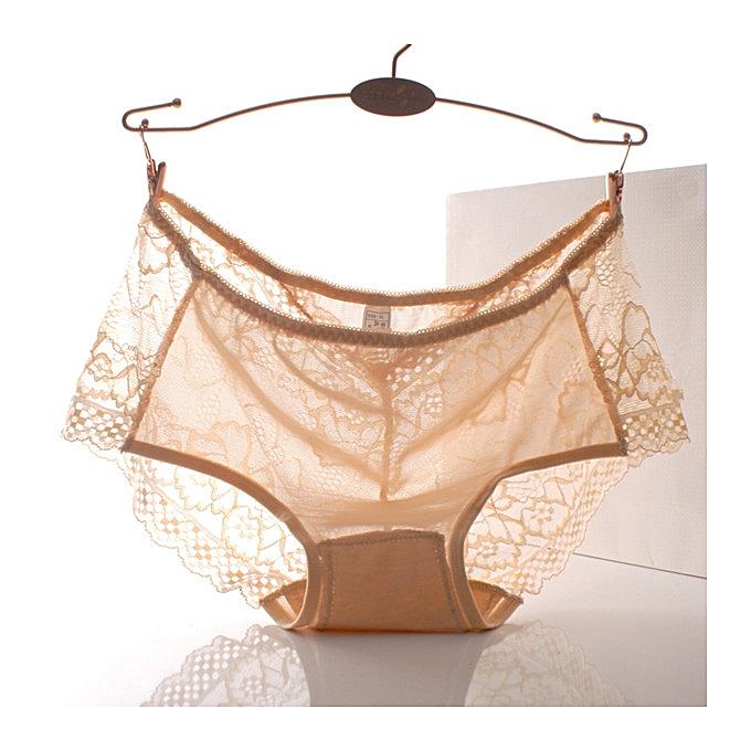 28609e0849d4d Women Plus Size Sexy Lace Seamless Breathable Low Rise Briefs Panties  Underwear