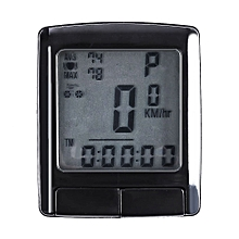 SD - 565 Water Resistant Bicycle Computer Cycling Odometer Speedometer Wireless Heart Rate Monitor - Black
