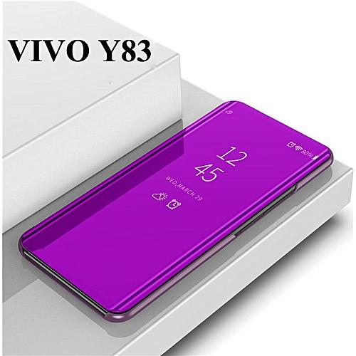 sports shoes 15216 6b11a For VIVO Y83 Smart Mirror Flip Cover Stand Flip Case Suit (Purple)