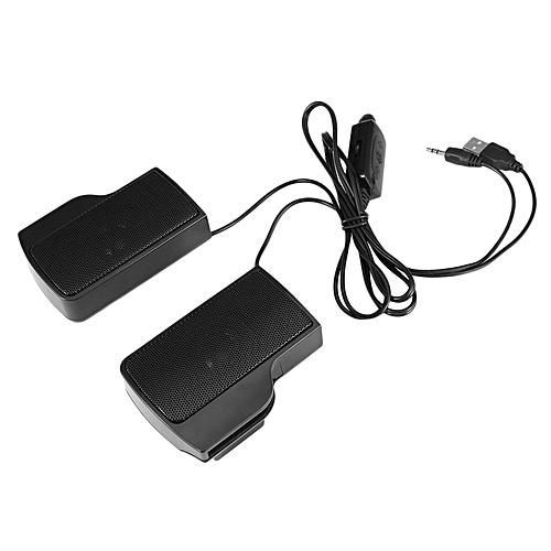 HP-New Mini Portable USB Stereo Speaker for Notebook Laptop PC with Clip Black black